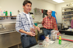Marcos' dye demonstration at Kent State University