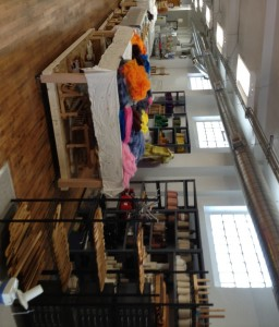 Work and storage space at Praxis Fiber Workshop